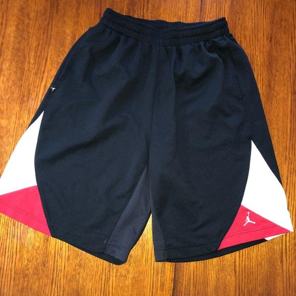 cafc537f8bae Jordan Other - Black White and Red NIKE JORDAN basketball shorts